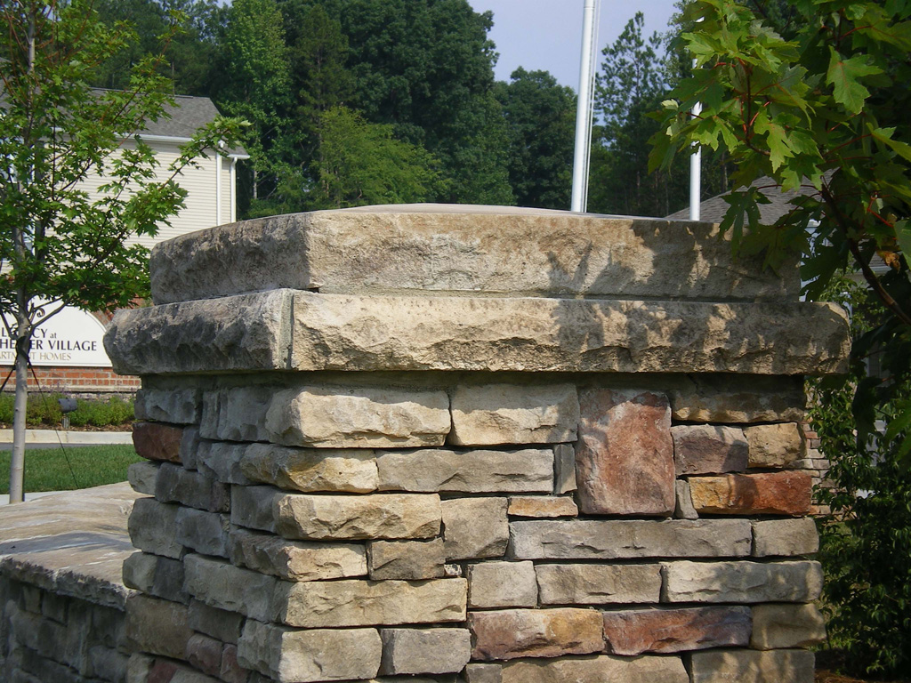 Natural Stone Pillars Caps : Column wall caps best in stone charlotte centurion